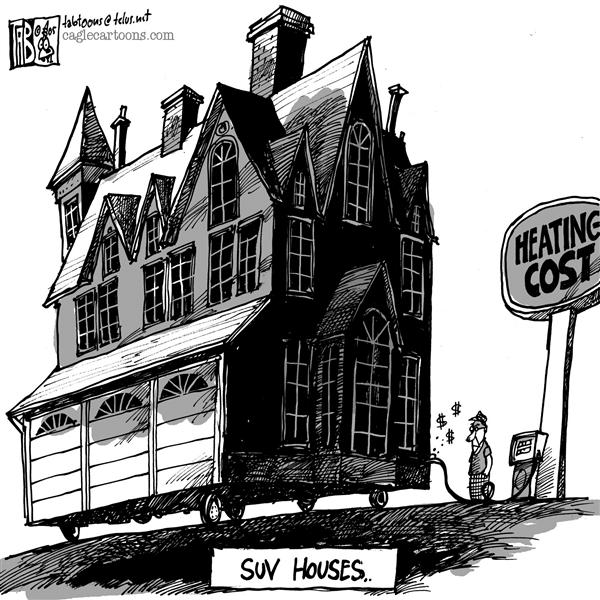 Tab - The Calgary Sun - SUV Houses - English - High Gas Prices Heating cost Monster homes