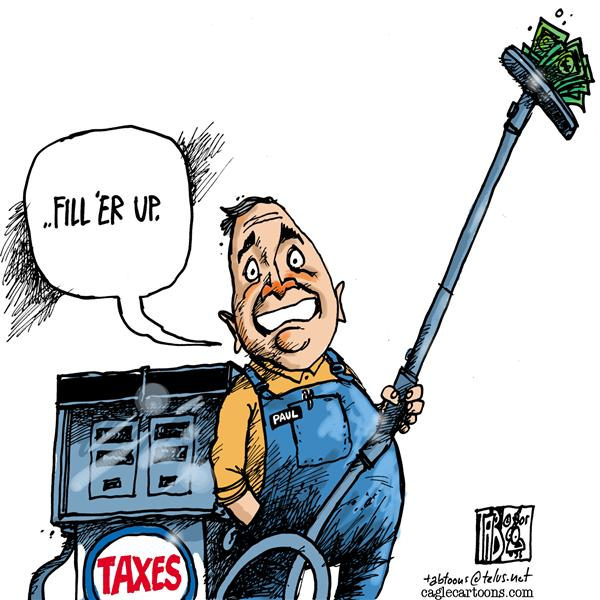 Tab - The Calgary Sun - CANADA Fill Er Up COLOUR - English - Canada Paul Martin Taxes High Gas Prices
