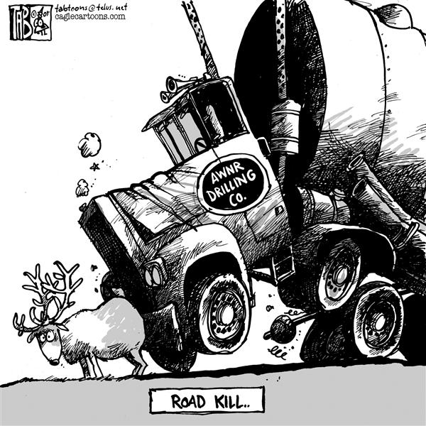 Tab - The Calgary Sun - Arctic Road Kill - English - ANWR Oil Drilling Exploration