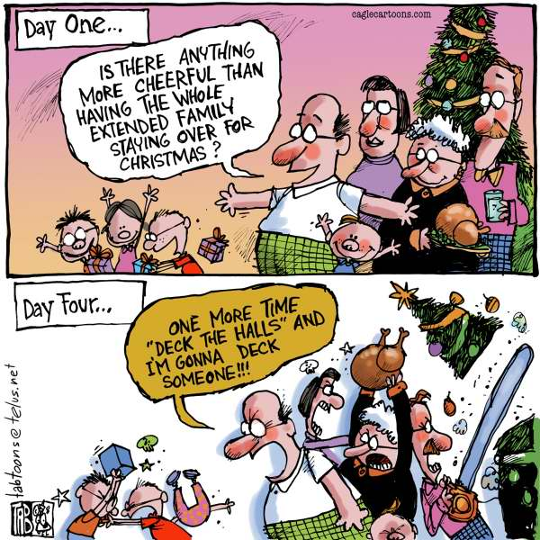 Tab - The Calgary Sun - Deck the halls - English - Christmas, Family, Family Fights, Stress, Xmas, Holidays, Turkey, Children