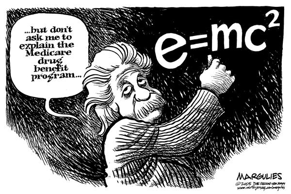 Jimmy Margulies - The Record of Hackensack, NJ - Medicare Drug Benefit - English - Medicare, Drug, Benefit, Prescription, Drugs, Health care, program, Einstein, Albert Einstein, relativity, explain, explanation, complicated, complex, math