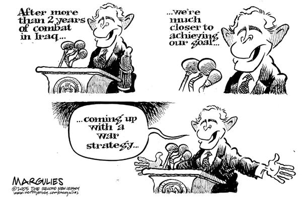 Jimmy Margulies - The Record of Hackensack, NJ - Bush Iraq Speech - English - Bush, Iraq, policy, Iraq war, war, strategy, goal, 2 years, speech, middle east, mideast, mid east, george, W, address, goals, objectives, objective, plans, plan
