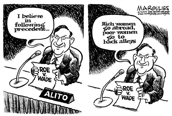 Jimmy Margulies - The Record of Hackensack, NJ - Alito on Roe v Wade - English - Alito, Roe v Wade, roe vs wade, Abortion, Supreme, courts, court, decision, conservative, precendent, poor, rich, abortions, abroad