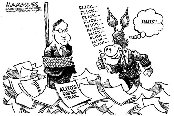 Jimmy Margulies - The Record of Hackensack, NJ - Alitos paper trail - English - Alito, Supreme, Court, courts, justice, justices, paper trail, evidence, dems, democrat, democrats, donkey, lighter, destroy