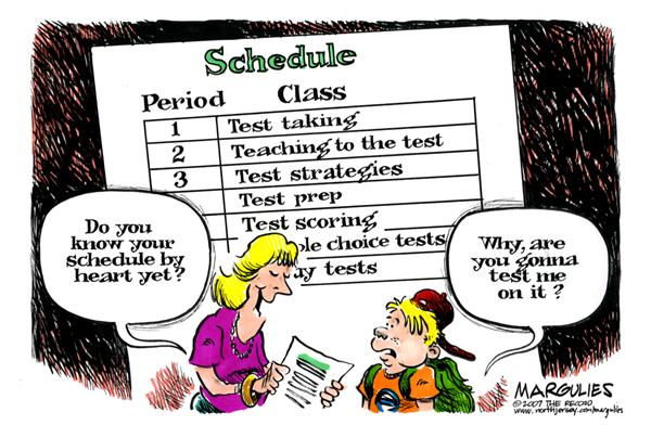 41488 600 School testing cartoons