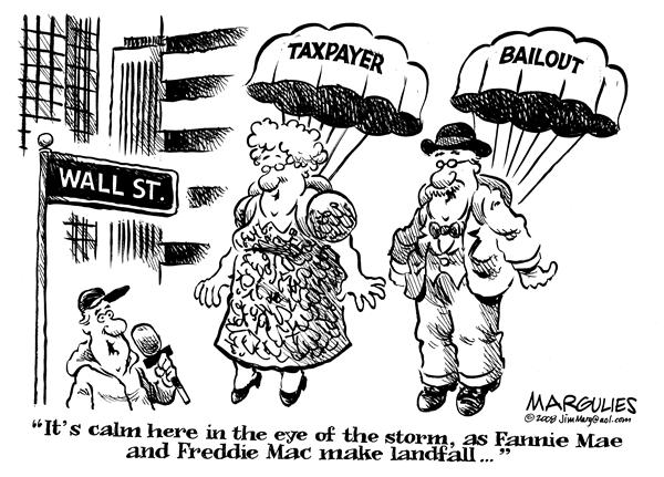 55131 600 Taxpayer Bailout of Fannie and Freddie cartoons