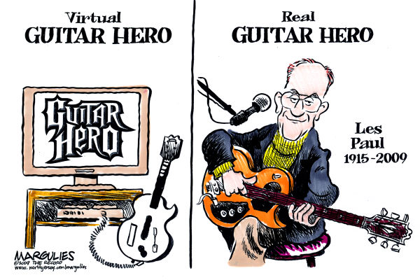Les Paul © Jimmy Margulies,The Record of Hackensack, NJ,Les Paul, Electric guitar, Guitar legends, Rock and Roll Hall of Famers, Musicians