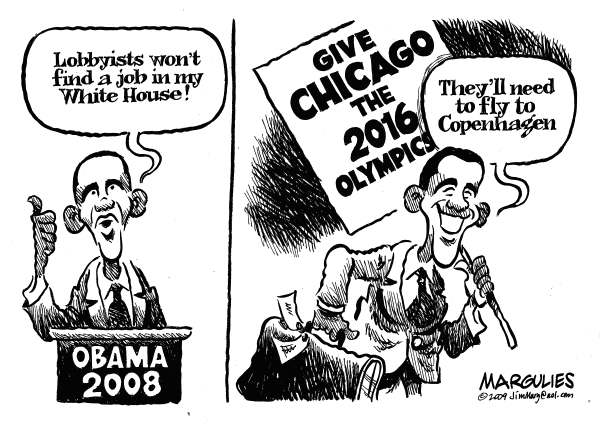 69525 600 Obama lobbies for Chicago Olympics cartoons