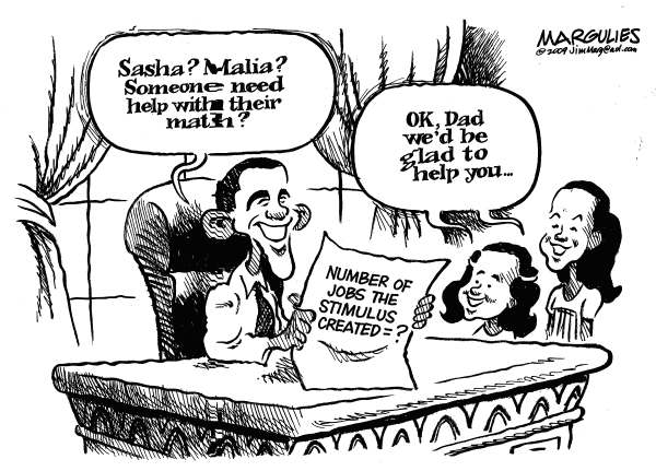 71639 600 Jobs created by the stimulus cartoons