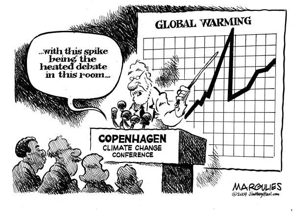 Copenhagen conflict © Jimmy Margulies,The Record of Hackensack, NJ,Copenhagen Climate Change Conference, Copenhagen, Global Warming, Climate Change, Kyoto, Greenhouse gases