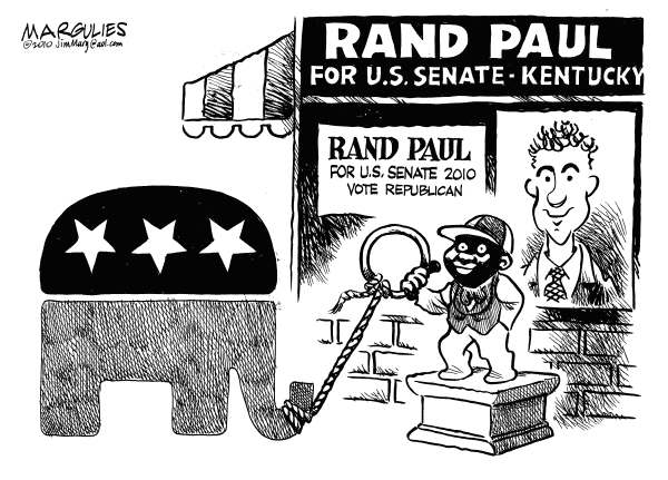 Rand Paul for Senate © Jimmy Margulies,The Record of Hackensack, NJ,Rand Paul, Tea Party, Republicans, 2010 Elections, Republicans and race, Right wing