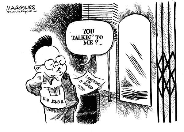 North Korea sanctions © Jimmy Margulies,The Record of Hackensack, NJ,North Korea, Kim Jong Il, North Korea sanctions, North Korea nukes, Korean peninsula, North Korea-South Korea relations, China and North Korea, UN sanctions on North Korea