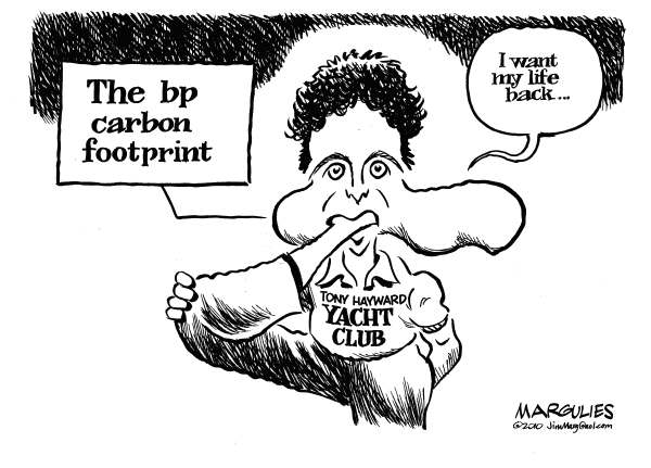 Bp carbon footprint © Jimmy Margulies,The Record of Hackensack, NJ,BP, Tony Hayward, BP public relations, Oil Spill, BP Spill, Gulf oil spill