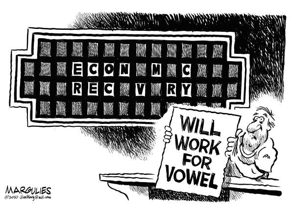 Jimmy Margulies - The Record of Hackensack, NJ - Economic recovery - English - Economic recovery, recovery, economy, recession, jobs, joblessness, unemployment, economic stimulus
