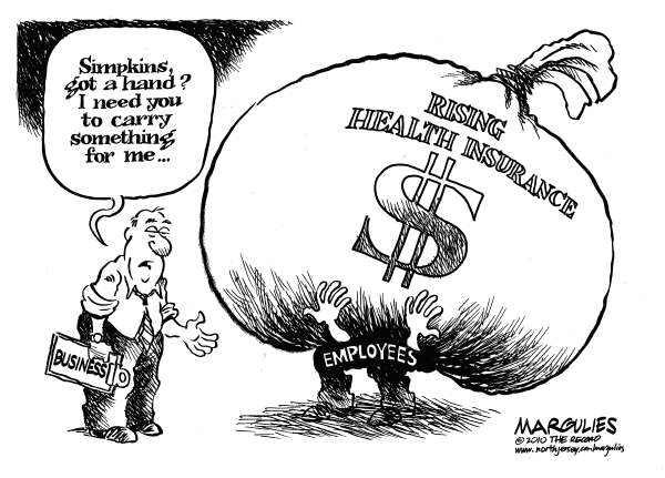 Rising health insurance costs © Jimmy Margulies,The Record of Hackensack, NJ,Rising Health insurance costs, Health coverage, Business,Employees, Economy