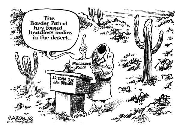 82819 600 Arizona Governor Jan Brewer and Headless Bodies cartoons