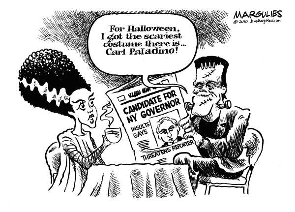 Scary Paladino for NY Governor corrected version © Jimmy Margulies,The Record of Hackensack, NJ,Paladino for Governor, Carl Paladino, Tea Party, Republicans, 2010 elections, voter anger, Gay rights, Social conservatives, Homophobia