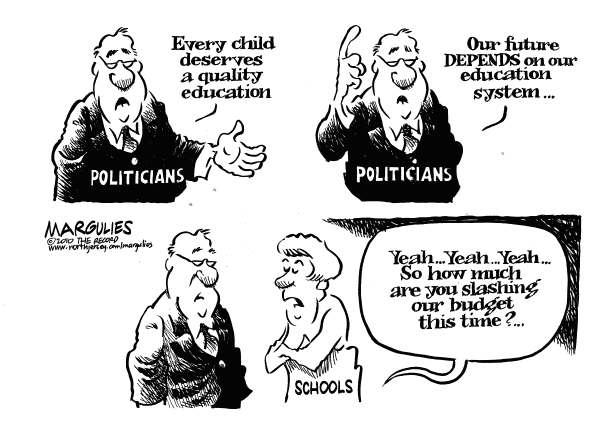 Education budget cuts © Jimmy Margulies,The Record of Hackensack, NJ,Education budget, School budgets, School spending, Education, Education reform