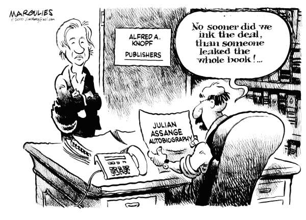 Julian Assange Autobiography © Jimmy Margulies,The Record of Hackensack, NJ,Julian Assange, WikiLeaks, Book publishing, Celebrity books, Celebrity authors