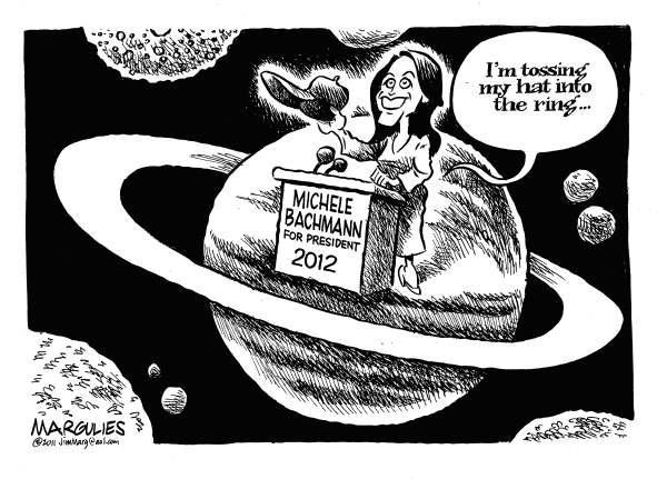 Michele Bachmann  tosses her hat into the ring © Jimmy Margulies,The Record of Hackensack, NJ,Michele Bachmann, Michele Bachmann for President, Tea Party, Republican Party, Republican presidential candidates, 2012 election, conservatives