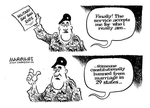 95827 600 Military Gay Ban Ends cartoons