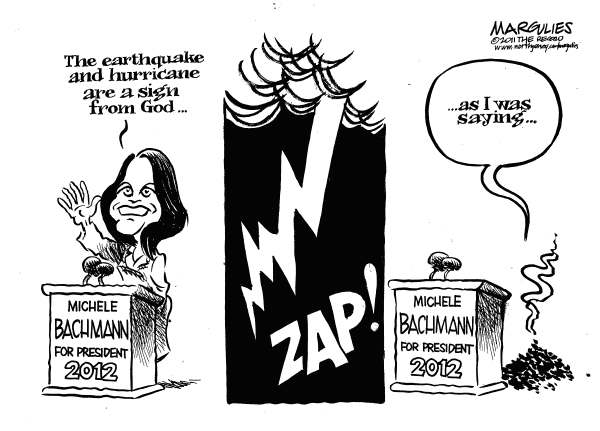 97553 600 Michele Bachmann earthquake and hurricane quote cartoons