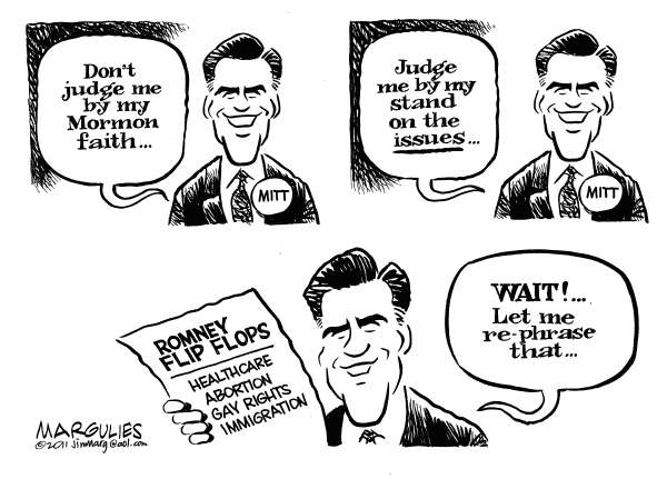 Romney and his Mormon faith © Jimmy Margulies,The Record of Hackensack, NJ,Mitt Romney, Romney and his Mormon faith, Mormon religion, Religion and politics, Republicans, 2012 Republican presidential candidates