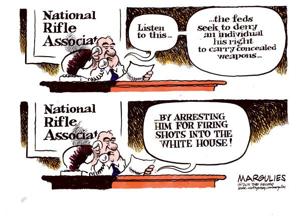 Jimmy Margulies - The Record of Hackensack, NJ - White House shooting color - English - White House shooting, Guns, gun control, NRA, concealed carry laws, concealed weapons, semi automatic weapons