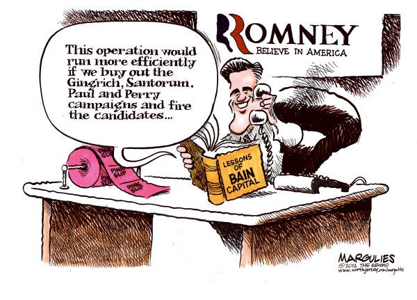 Jimmy Margulies - The Record of Hackensack, NJ - Romneys business experience color - English - Romney, Bain Capital, Gingrich, Paul, Perry, Santorum, Republican presidential race, 2012 Republican presidential candidates, Romney and Bain Capital