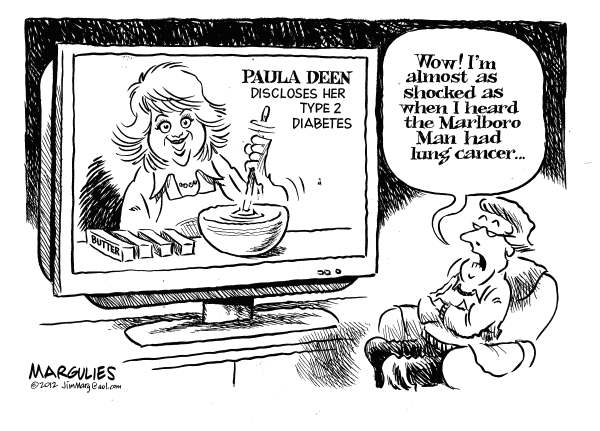 Jimmy Margulies - The Record of Hackensack, NJ - Paul Deen - English - Paula Deen, type 2 diabetes, health, diet, nutrition, US eating habits, obesity, fat, cholesterol