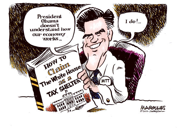Jimmy Margulies - The Record of Hackensack, NJ - Romney tax shelter color - English - MItt Romney, Romney tax shelter, Taxes, Tax Reform, Tax loopholes, Economy