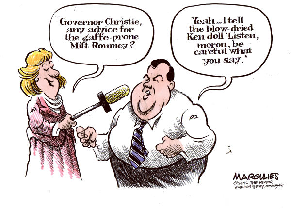Jimmy Margulies - The Record of Hackensack, NJ - Christie advice for Romney - English - MItt Romney, Romney, Christie, Chris Christie, gaffes, 2012 presidential race, Republican primaries