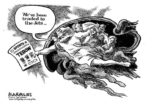 Tim Tebow trade to the NY Jets © Jimmy Margulies,The Record of Hackensack, NJ,Tim Tebow, Tebow, Tebowmania, NY Jets, NFL, Christian athletes, Athletes and religion, Mark Sanchez, Backup quarterbacks, Rex Ryan