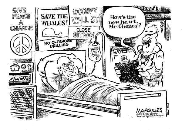 Jimmy Margulies - The Record of Hackensack, NJ - Cheney Heart transplant - English - Cheney heart transplant, Dick Cheney, Cheney vice presidential record, Bush/Cheney administration