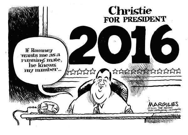 Jimmy Margulies - The Record of Hackensack, NJ - Christie political ambition - English - Christie, Chris Christie, Governor Christie, Mitt Romney, Romney running mate, Republican party, 2012 election, 2016 election