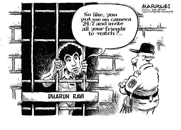 Jimmy Margulies - The Record of Hackensack, NJ - Rutger spycam/Dharun Ravi jail term - English - Rutgers spycam case, Dharun Ravi, Dharun Ravi jail term, Tyler Clementi, Cyberbullying, Gay teens, Gay teens suicide