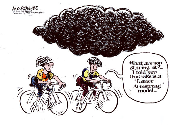 Jimmy Margulies - The Record of Hackensack, NJ - Lance Armstrong doping - English - Lance Armstrong, doping, performance enhancing drugs, Tour de France, steroids, human growth hormone