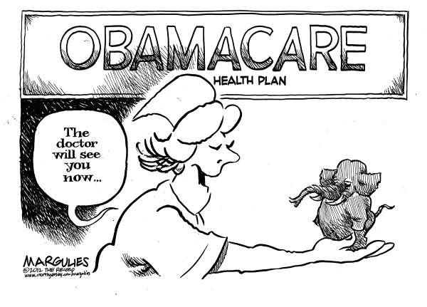 Jimmy Margulies - The Record of Hackensack, NJ - Supreme Court upholds Obama health plan color - English - Obama Health Plan, Affordable Care Act, Obamacare, Supreme Court, Supreme Court upholds Obama Health plan, Justice Roberts, Health Care reform