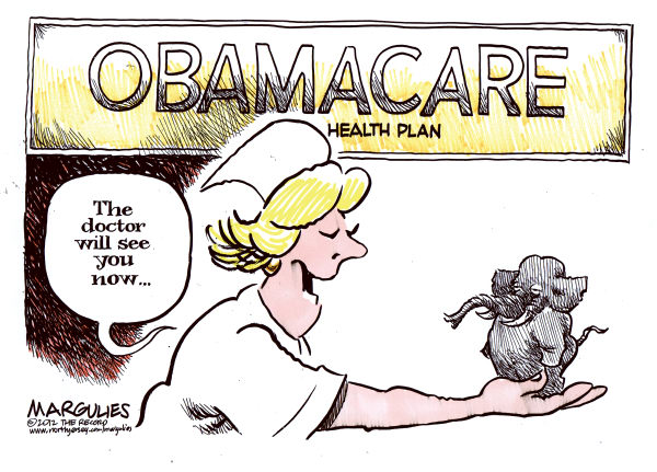 Jimmy Margulies - The Record of Hackensack, NJ - Supreme Court uphold Obama Health Plan color - English - Obama Health Plan, Affordable Care Act, Supreme Court upholds Obama Health Plan, Justice Roberts, Obamacare