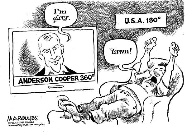Jimmy Margulies - The Record of Hackensack, NJ - Anderson Cooper - English - Anderson Cooper, Anderson Cooper openly gay, Anderson Cooper comes out of the closet, Gays in the media, Gays in public life, Homosexuals, Tolerance of gays and lesbians