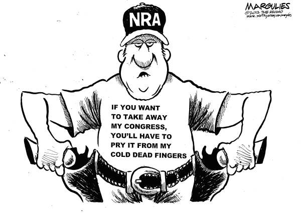 Jimmy Margulies - The Record of Hackensack, NJ - NRA and Congress - English - NRA, Gun Lobby, Gun control, Assault weapons, Brady Bill, ammunition