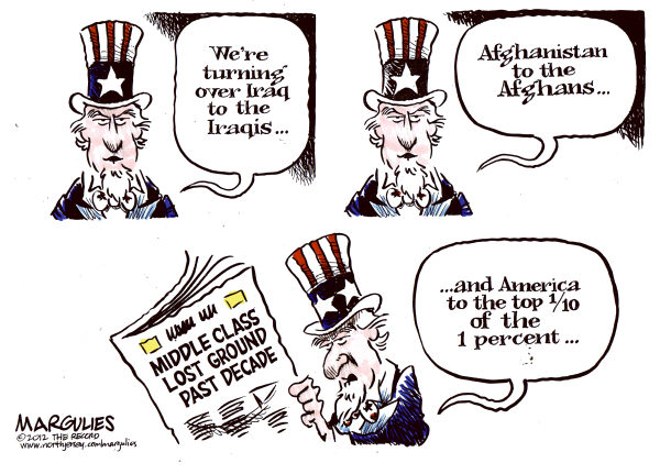 Jimmy Margulies - The Record of Hackensack, NJ - Middle Class Lost Ground Color - English - Middle Class, US wealth gap, 1 percent, Upward mobility in the US