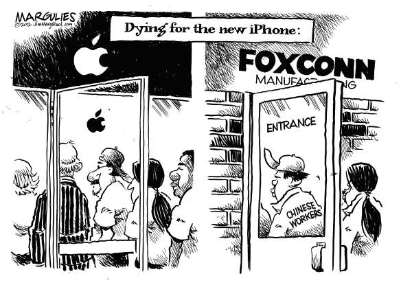 Jimmy Margulies - The Record of Hackensack, NJ - Dying for the new iPhone - English - iPhone, Apple, Foxconn, Chinese workers, Dangerous conditions at Foxconn plants in China, iPhone 5