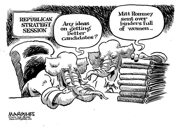 Jimmy Margulies - The Record of Hackensack, NJ - Republican strategy session - English - Republican losses in 2012 election, Republican party, Romney, 2012 presidential election, Republican war on women, Abortion, Planned Parenthood, Obamacare coverage of contraceptives