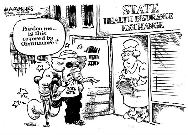 Jimmy Margulies - The Record of Hackensack, NJ - State Health Insurance Exchanges  - English - Obamacare, State Health Insurance Exchanges, Republicans, 2012 election