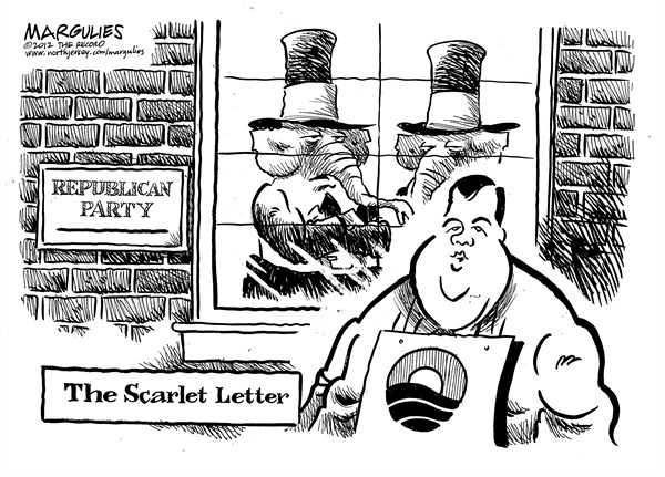 122806 600 Christie shunned by Republicans cartoons