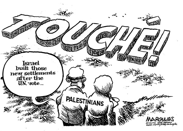 Jimmy Margulies - The Record of Hackensack, NJ - UN Palestinian vote - English - UN Palestinian vote, Israel, Israeli settlements, Palestinians, Fatah, PLO, Hamas, Gaza, Netanyahu, Abbas