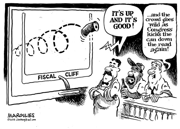 Jimmy Margulies - The Record of Hackensack, NJ - Fiscal cliff - English - Fiscal cliff, taxes, spending, debt, deficit,economy, recession, Obama, Boehner, Reid, McConnell
