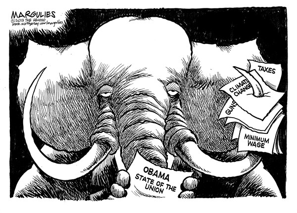 127166 600 Republicans and Obama State of the Union cartoons