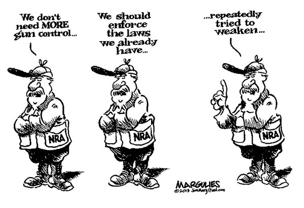Jimmy Margulies - The Record of Hackensack, NJ - gun control - English - gun control, gun lobby, guns, NRA, gun violence, assault weapons, background checks